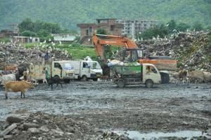Shifting of waste operations from trenching ground on Sahastradhara Road to Shishambara on the city