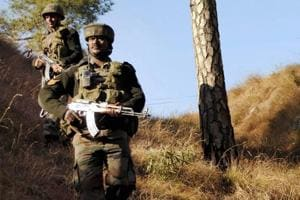 Army soldiers take positions near the Line of Control in Balakot sector of Poonch.