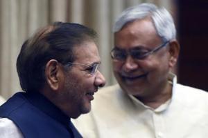 Bihar chief minister Nitish Kumar and JD(Ul) leader Sharad Yadav during happier times.