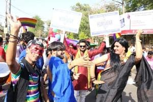 LGBT people in Lucknow out this April for the city's first queer pride parade.