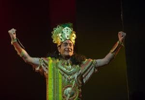 Actor Nitish Bharadwaj is portraying the character of Krishna in a play of late.
