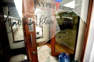 Angry home buyers ransacked Jaypee's office in Sector 128, Noida on Saturday.