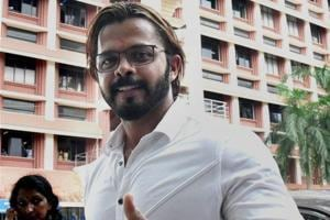 S. Sreesanth back on cricket field after 4 years