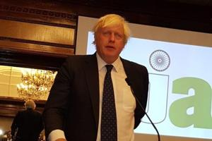 Speak truth to power, Boris Johnson tells Indian journalists