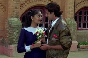 Actors Anu Aggarwal and Rahul Roy in a still from the 1990 film, Aashiqui.