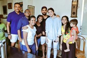 Anushka Sharma and Virat Kohli chill out with fans in balmy Sri Lanka....