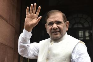 Sharad Yadav at the Parliament House in New Delhi,  on August 2, 2017.