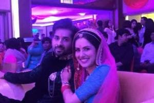 TV actors Puja Banerjee, Karan Verma get engaged in fairytale...