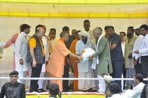 Yogi does aerial survey of flood-hit Kheri, orders relief