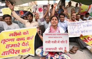 Amrapali employees protest against delay in salaries
