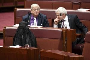 Australian far-right senator wears burqa in Parliament to make a point...