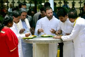 'Amma...Indira Canteen': When Rahul Gandhi had a slip of tongue