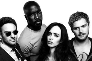 Charlie Cox, Mike Colter, Kristen Ritter and Finn Jones star in The Defenders.