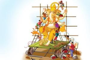 Apart from Lalbaug, make-shift workshops start springing up in Chinchpokli and Wadala from March onwards. The smaller idols are made using either PoP or clay
