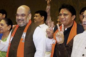 BJP's Balwantsinh Rajput who lost to Ahmed Patel in RS polls...