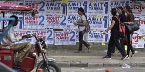 DU campus already littered with campaign posters
