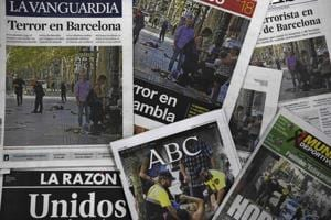 'Evil strikes again': How newspapers covered the Barcelona terror...