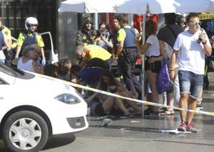 Third time lucky: Woman escapes attack at Barcelona after London,...