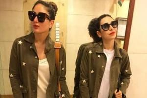 Kareena Kapoor twins with sis Karisma, gives look test for Veere Di...