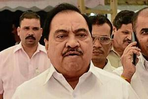 """The complaint alleged that while senior BJP leader Eknath Khadse claimed agriculture was his only source of income other than public office, there had been """"huge inflow of funds into his bank accounts""""."""