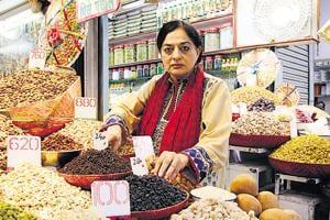 Author Sadia Dehlvi at a market in Delhi.
