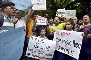 Jaypee homebuyers protest at Jantar Mantar, say insolvency a fraud