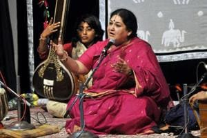 Renowned Indian classical singer Shubha Mudgal.