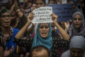 Spain: Muslims express innocence in Barcelona gathering