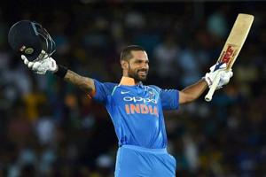 Shikhar Dhawan's 132* gives India nine-wicket win over Sri Lanka...