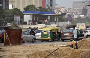 Gurgaon: NHAI seeks removal of petrol pump stalling underpass work