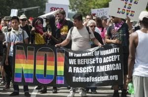 Thousands march against hate speech in Boston, dwarfing controversial...