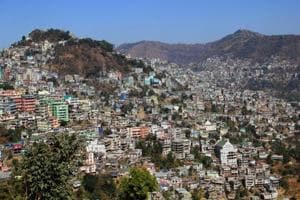 A general view of Aizawl, the capital of Mizoram.