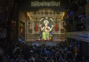 This year, Mumbai's Lalbaugcha Raja takes form of Vishnu's second...