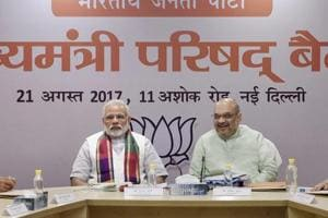 PM Modi, BJP chief Amit Shah meet CMs of party-ruled states to review...