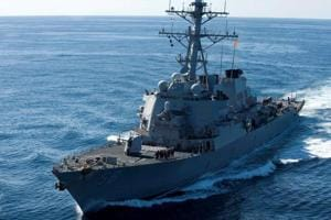 10 sailors missing after US destroyer collides with tanker near...