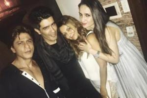 Shah Rukh Khan, wife Gauri attend Manish Malhotra's party. See pics