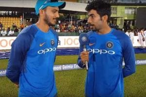 Jasprit Bumrah turns reporter, throws 'verbal yorkers' at Axar Patel -...