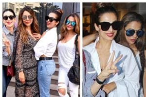These photos of Malaika Arora with Karisma, Gauri and Amrita are...