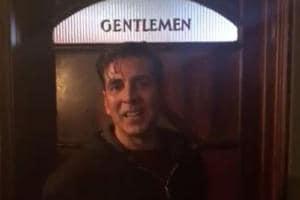 Akshay Kumar promotes Sidharth Malhotra's A Gentleman outside a...