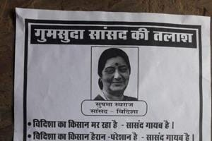 MP Missing: Posters crop up in Sushma Swaraj's constituency over...