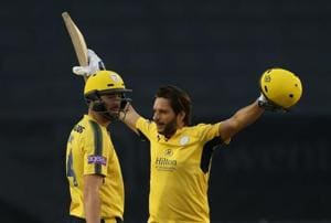 Shahid Afridi's 42-ball ton helps Hampshire crush Derbyshire in...