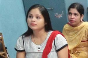 Farhat(in white)  is Union minister Mukhtar Abbas Naqvi's sister.