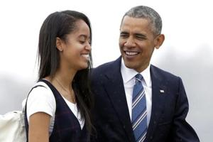 Obama's daughter Malia spotted moving into Harvard dorm. Guess who...