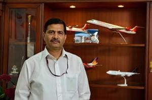 Ashwani Lohani, who was the chairman and managing director of Air India, at his office in New Delhi.