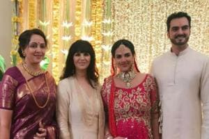 In pics: Esha Deol's second wedding to husband Bharat, Soha Ali Khan's...