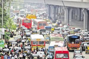 Mumbai has a population density of nearly 21,000 people per square kilometre and more than 28 lakh vehicles on its roads.