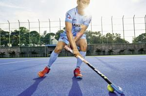 Manpreet Singh has been leading the national hockey team as captain since May 2017. (Manpreet wears the 'Hockey India' national colours playing kit and shoes from Adidas. Make-up and hair by Madhura Iyli)
