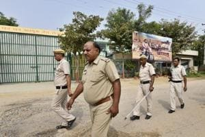 Throughout the day, a large posse of Gurgaon police lead by SHO Surender Singh remained deployed in front of the building.