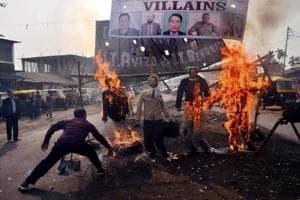 Dimapur: A protest against state leaders, Dimapur, Nagaland (File Photo)