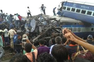Railway police and local volunteers look for survivors in the upturned coaches of the Kalinga-Utkal Express after an accident near Khatauli in Uttar Pradesh. According to data-journalism website IndiaSpend, 333 people died in train derailments alone in the last three years.